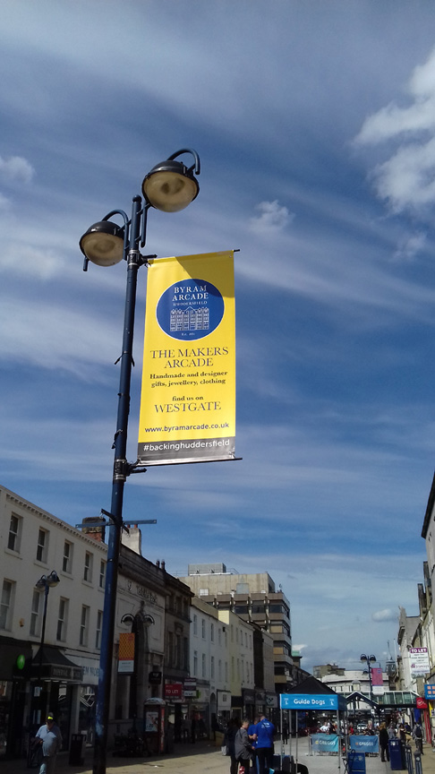 Byram Arcade Town Centre Banners